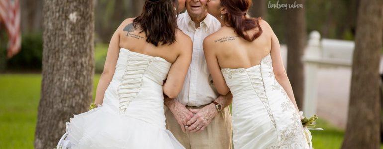 Irmãs antecipam o álbum de casamento